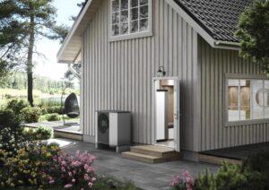 dom z pompą ciepła NIBE